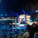 The Foo Fighters perform at the 2012 Democratic National Convention in Charlotte, North Carolina.
