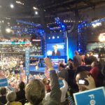 United States President Barack Obama speaks at the 2012 Democratic National Convention in Charlotte, North Carolina.