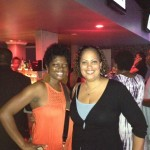 The Burton Wire's Nsenga Burton with Janine Davis, Executive Director of Girl Talk Foundation at NABJ/CAABJ DNC event.