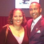 Nsenga Burton with Charlotte's Mayor Pro Tem Patrick Cannon at the NABJ/CAABJ DNC Event. (The Burton Wire)