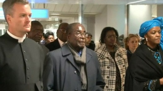 Zimbabwean president Robert Mugabe travels to Vatican City with family to attend Pope Francis I inauguration. (Google Images)