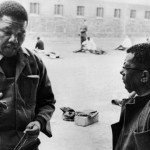 Nelson Mandela with Walter Sisulu in prison on Robben Island. (Getty Images via The Guardian)