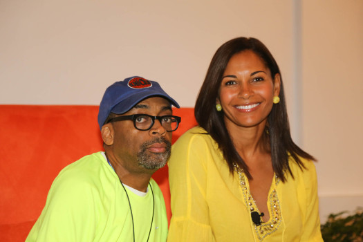 Legendar film director Spike Lee and actress Salli Richardson-Whitfield discuss the challenges in black Hollywood at the 2013 ABFF. (Photo Credit: Wison Morales)