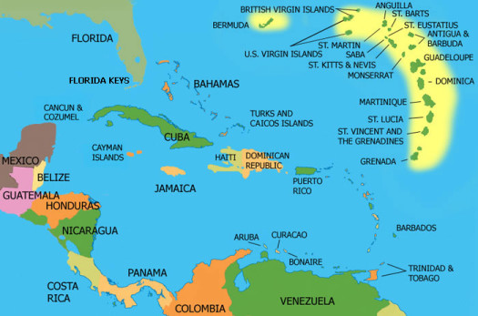 Weather forecasters are predicting that the Caribbean will be hit hard this coming hurricane season. (Google Images)