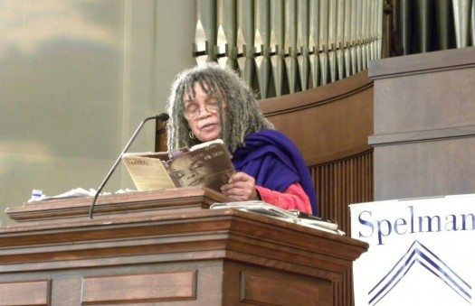 Iconic poet Sonia Sanchez delivers poetry and advice at Spelman College. (Photo Credit: Donna Akiba Harper, Ph.D.)