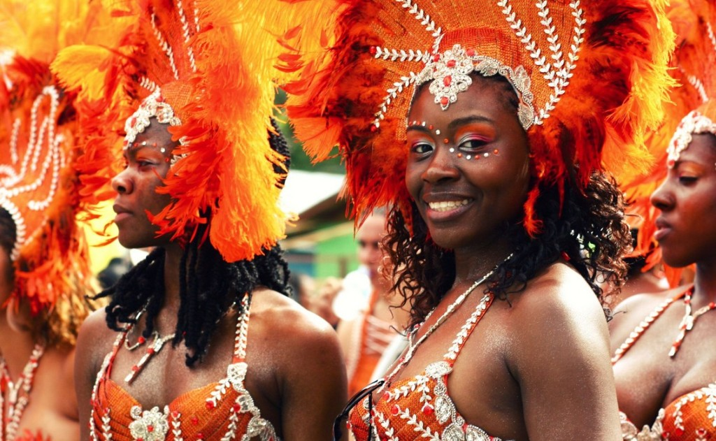 Carnival is a major celebration throughout the African Diaspora. Ladies participating in Carnival in Trinidad. (Google Images)