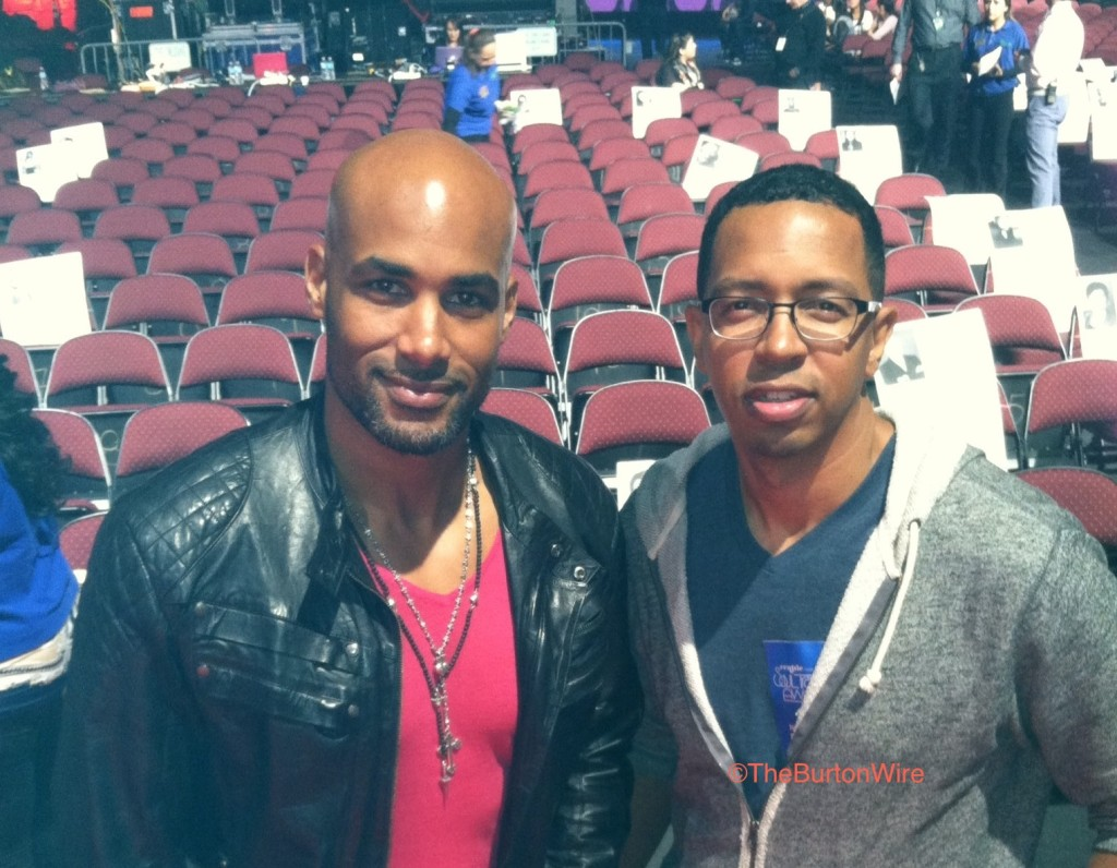 2013 Soul Train Awards producer Boris Kodjoe with The Burton Wire's contributing writer Patrick Mamou. (Photo Credit: The Burton Wire)