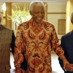 Nelson Mandela is flanked by his successors, Thabo Mbeki and Jacob Zuma, both of the ANC. (Google Images)