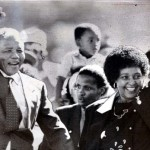 Mandela and his former wife Winnie salute well-wishers as he leaves Victor Verster prison after 27 years. (Google Images)