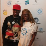 Ne-Yo poses with The Compound Foundation's president and chair Loraine Smith, who is also his mother. (Photo Credit: DJ Blak Magic)