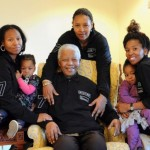 Nelson Mandela celebrates his 93rd birthday with his family. (Google Images)