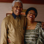 Nelson Mandela and his current wife Graça Machel who was formerly married to Mozambique's former president Samora Machel until his death in 1986. (Google Images)