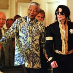 Nelson Mandela and Michael Jackson meet. (Google)