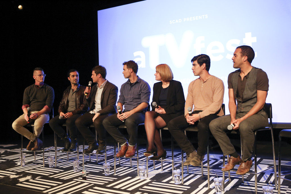 The cast and crew of HBO's 'Looking' discuss ife on set and portrayals of ethnic & gay characters on TV.  (Photo Credit: Catrina Maxwell)