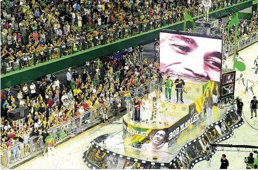 Reggae music was honored during a carnival celebration held in Florianopolis.  (Photo Credit: Jamaica Observer)