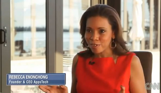 Rebecca Enonchong a Cameroonian national, is the founder and CEO of AppsTech, a Bethesda, Maryland-based global provider of enterprise application solutions. (Photo Credit: CNN Screen Grab)