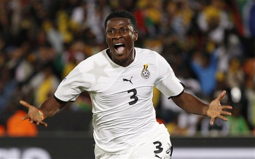 Striker Asamoah Gyan of Ghana's official 2014 World Cup squad.
