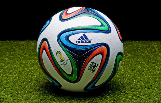 FIFA's official 2014 World Cup soccer ball. Adidas' 'Brazuca' ball. (Google Images)