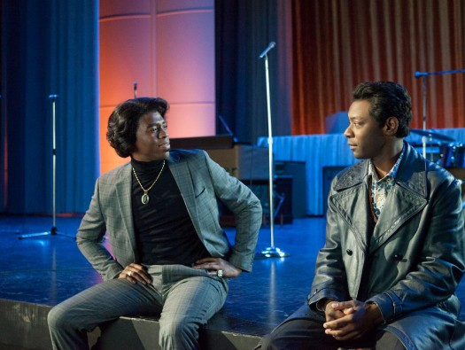 Chadwick Boseman and Nelsan Ellis star as James Brown and Bobby Byrd  in 'Get on Up.'  (Universal Pictures)