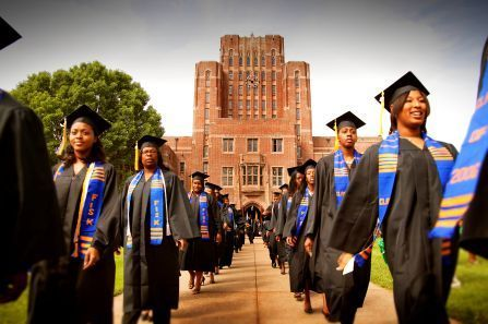 Students graduate from Fisk University. (Photo Credit: Google Images)