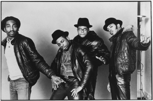 Producer Larry Smith with the members of Run-DMC. (Photo: Google Images)