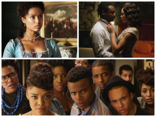 Photos: Gubu Mbatha-Raw in Belle, David Oyelowo and Carmen Ejogo in Selma and the cast of Dear White People. (TBW)
