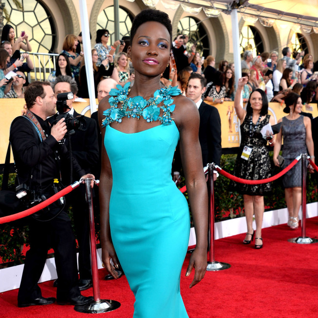 Lupita Nyong'o at the 2014 Screen Actors Guild (SAG) Awards. (Google Images)