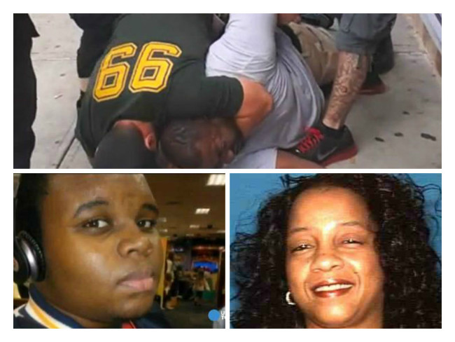 Eric Garner, Michael Brown and Yvette Smith were all unarmed when killed by police in 2014.