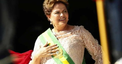 Brazil's president Dilma Rousseff is sworn in for her second term. (Google Images)