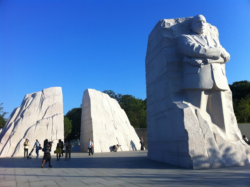 The memorial to Dr. Martin Luther King, Jr. in Washinton, DC.  (Google Images)