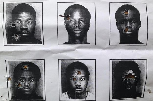 N. Miami Beach police use black male mugshots for target practice. (Google Images)