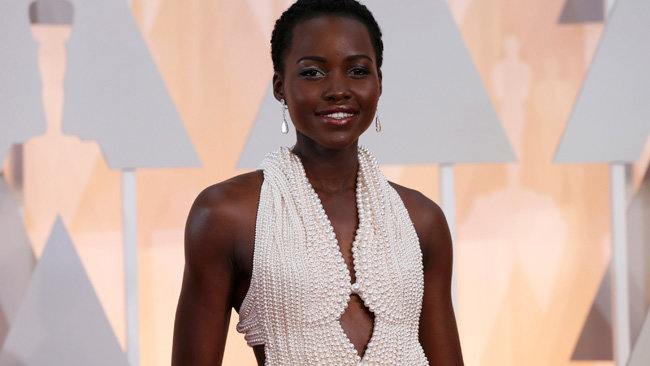 Academy award-winning actress Lupita Nyong'o's Calving Klein dress for the 2015 Oscars has been stolen.  (Photo: Google Images)