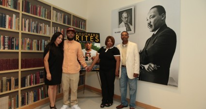 'Southern Rites' director Gillian Laub with the family of Justin Patterson at the National Center for Civil and Human Rights (Photos by Kelly Kline).