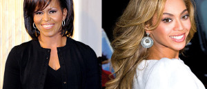 First Lady Michelle Obama admires iconic entertainer Beyonce. (Photo: Google Images)