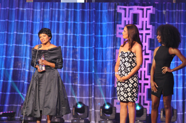 Intel Corporation's VP, Human Resources and Chief Diversity Officer Rosalind Hudnell honored as 'Corporate Executive of the Year' at National Action Network's sixth annual Triumph Awards (Photo Credit: National Action Network)