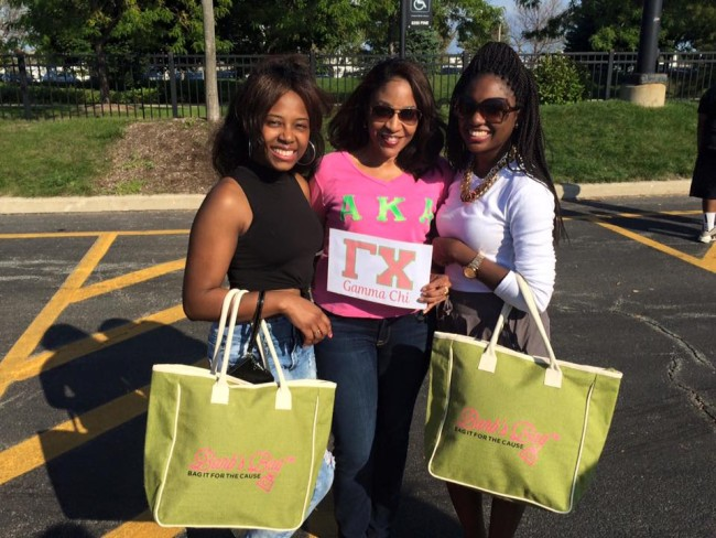 Gamma Chi Sorors support Bag It™ for the Cause. (Photo: The Pinkwell Foundation)