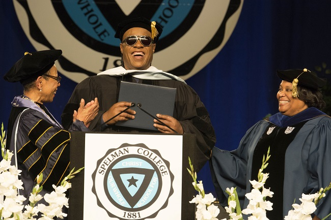 Grammy-winning music icon Stevie Wonder receives a Doctor of Humane Letters from Spelman College this year (Photo Credit: Spelman College).