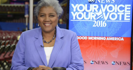 ABC NEWS - 7/19/16 - Coverage of the 2016 Republican National Convention from the Convention Center in Cleveland, Ohio, which airs on all ABC News programs and platforms.  GOOD MORNING AMERICA broadcasts from the convention floor.  (Photo by Ida Mae Astute/ABC via Getty Images)  DONNA BRAZILE